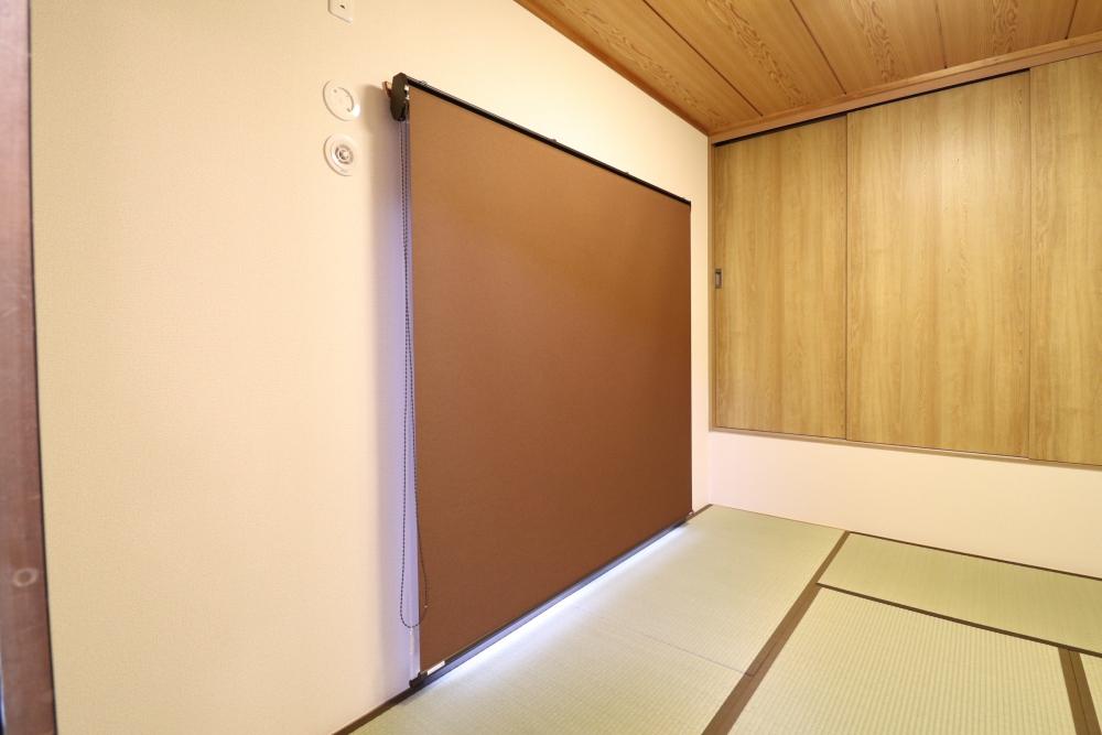 和室にダブルロールスクリーンを設置