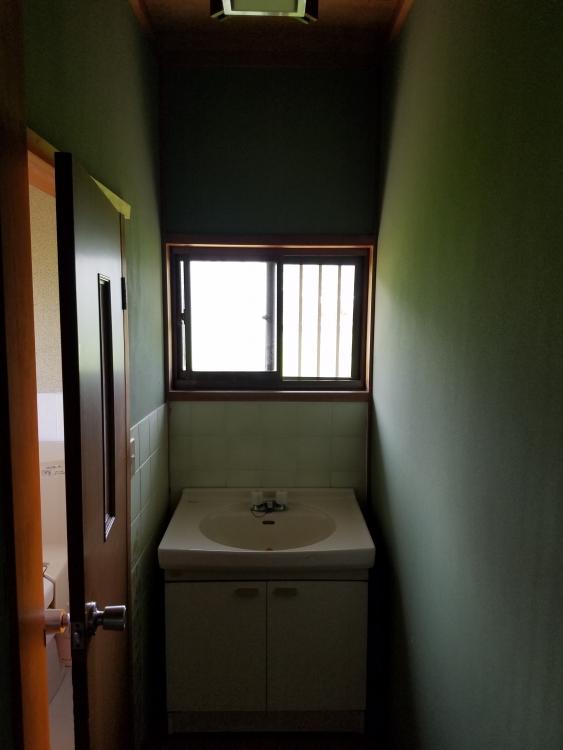 壁を撤去して手洗い器もオシャレに