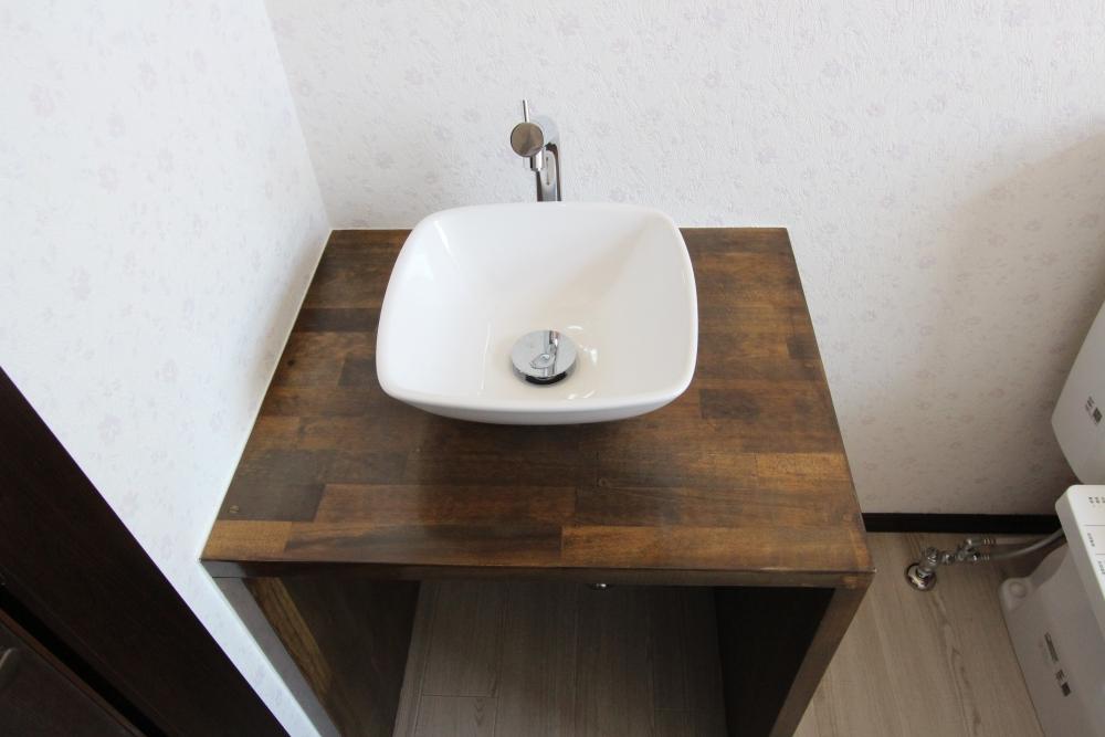 造作で作ったオリジナル手洗い器