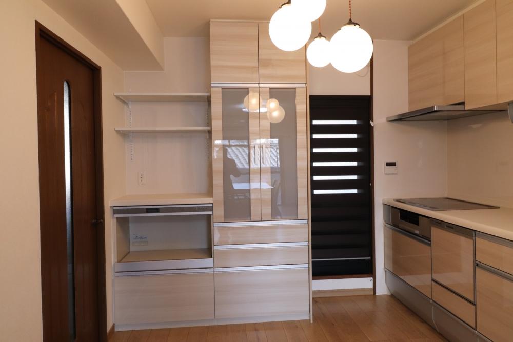 家電収納を設置