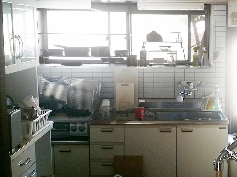 【キッチン】位置や設備を変え、使いやすくしました。