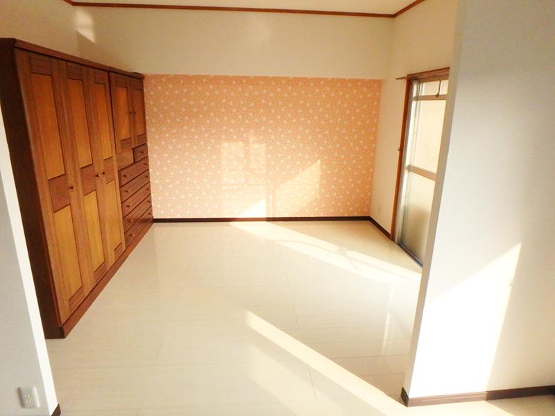 【和室→洋室】洋室にしてLDKと合わせて広々とした空感に。