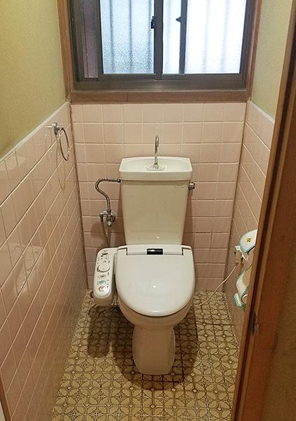 【トイレ】節水で経済的なトイレに交換。