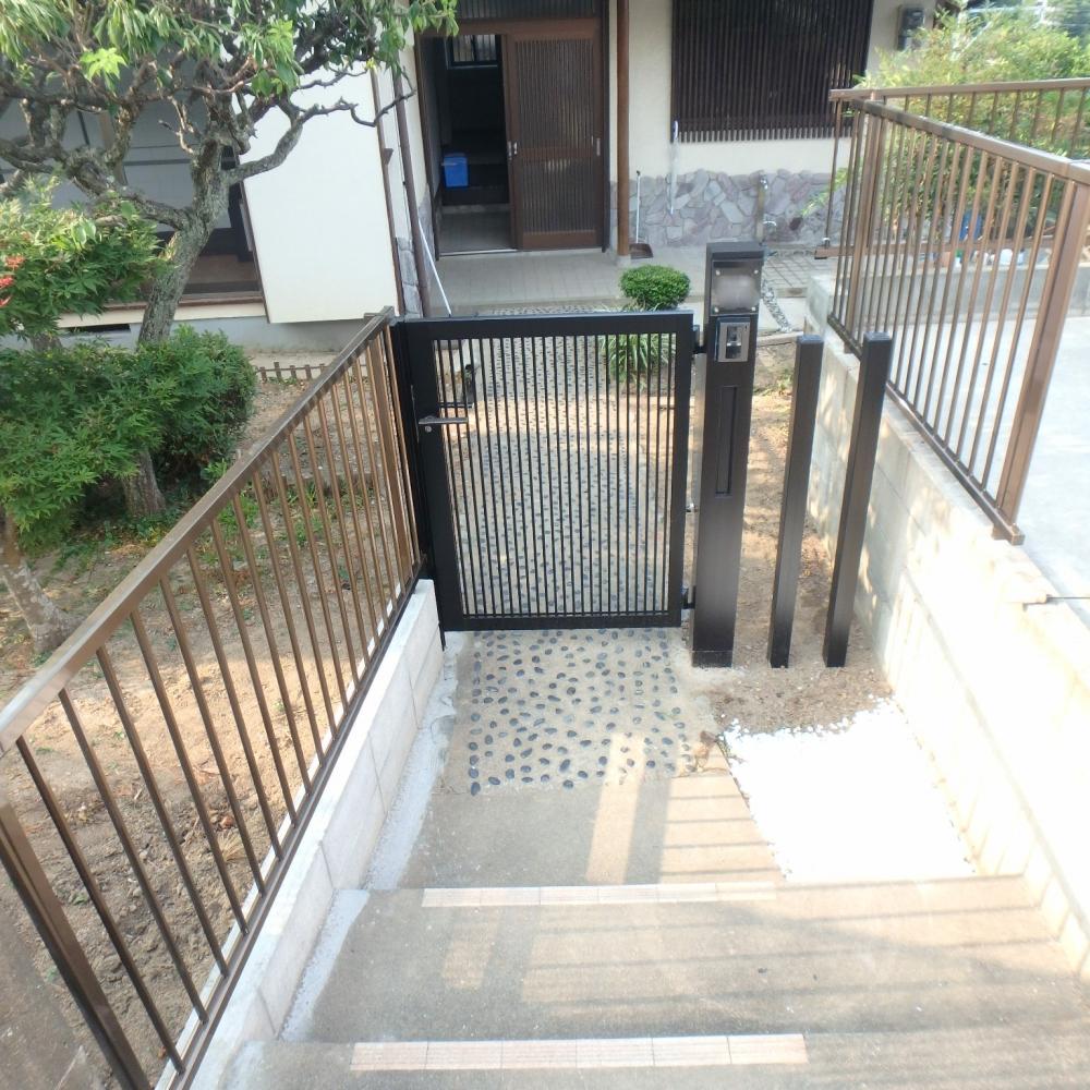 門扉やフェンスを取付