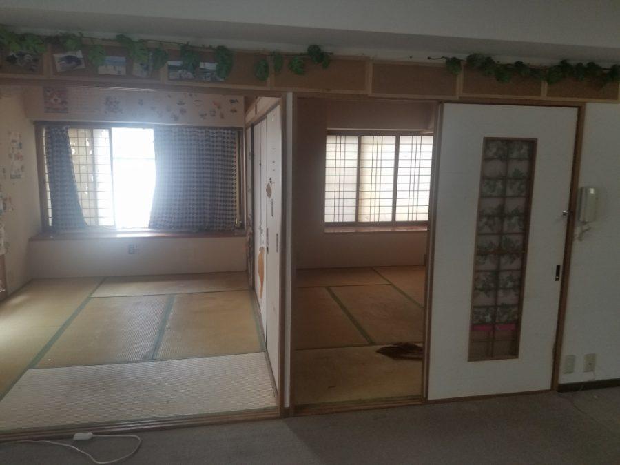 和室2間の間にわんちゃん部屋新設