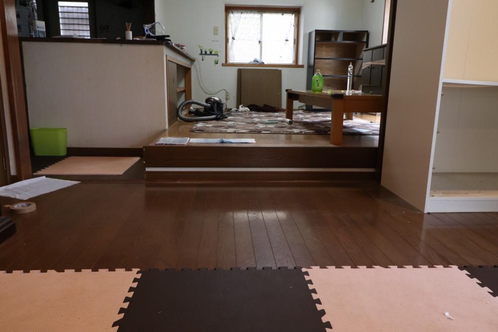 段差がなくなり、小上がり畳収納も造作
