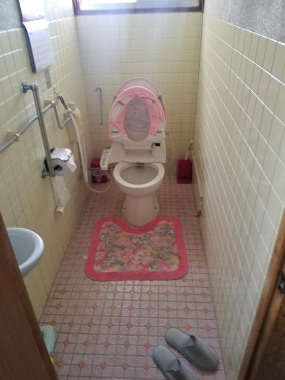 簡易水洗便器と内装も一新
