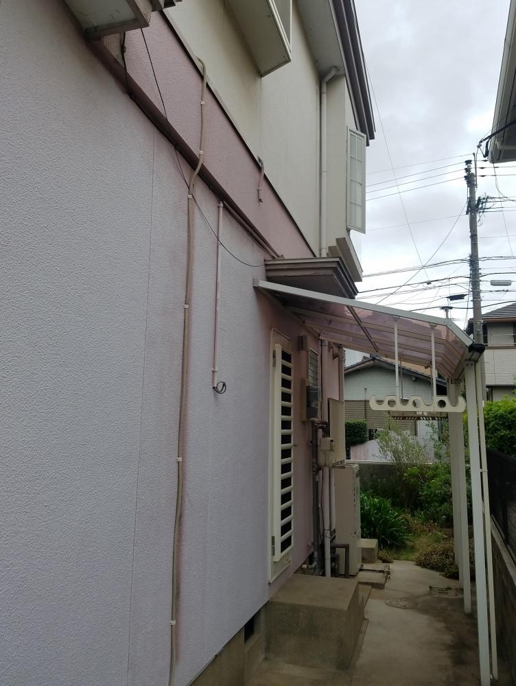 外部給排水配管もカバー等設置して見た目もスッキリ
