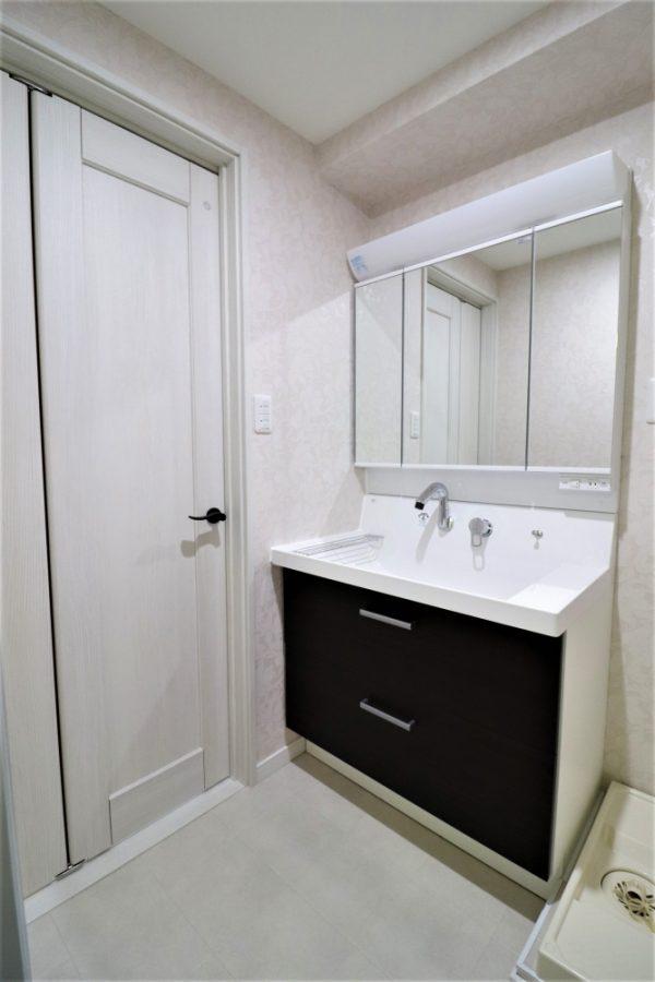 洗面台を90cmへ