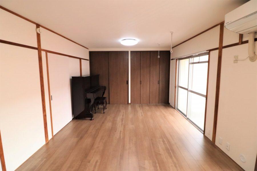 6畳2間を大きな1間洋室へ