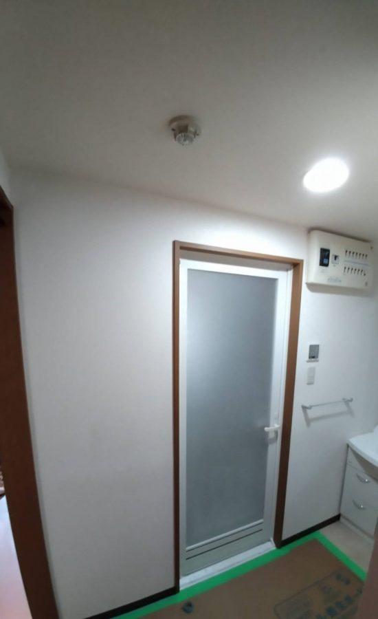 浴室面壁クロス張替ました