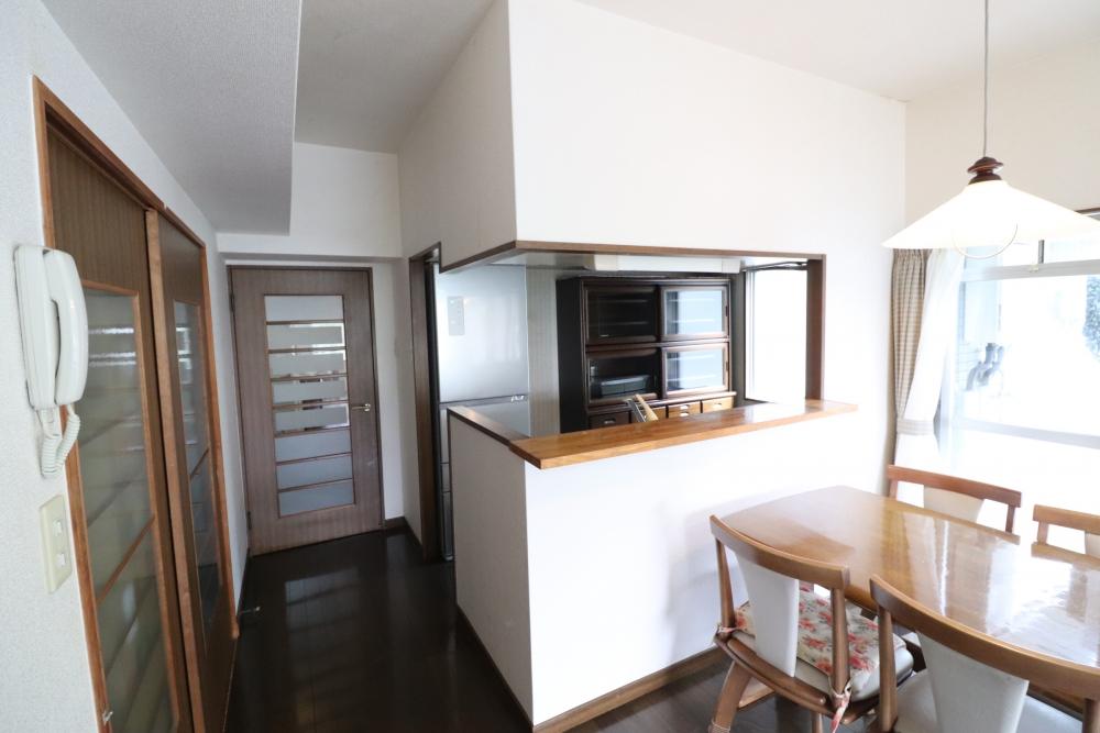 キッチン回りがインテリア空間映え