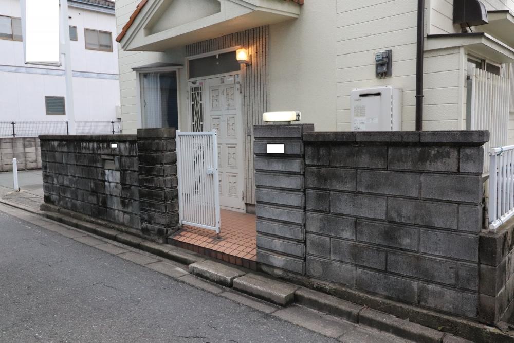 玄関正面ブロックも撤去してタイルコンクリート打設