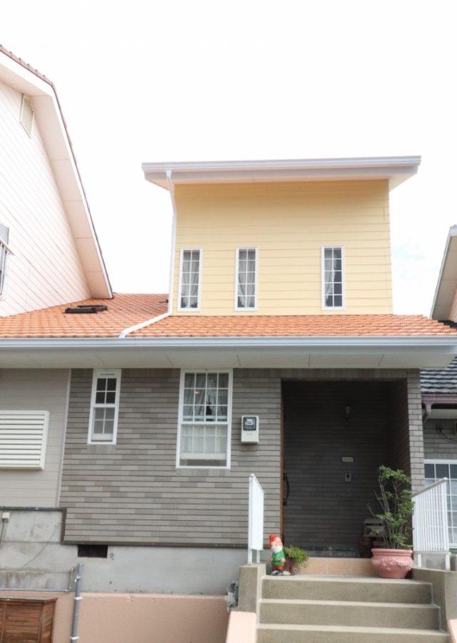 屋根壁を全面塗装しました