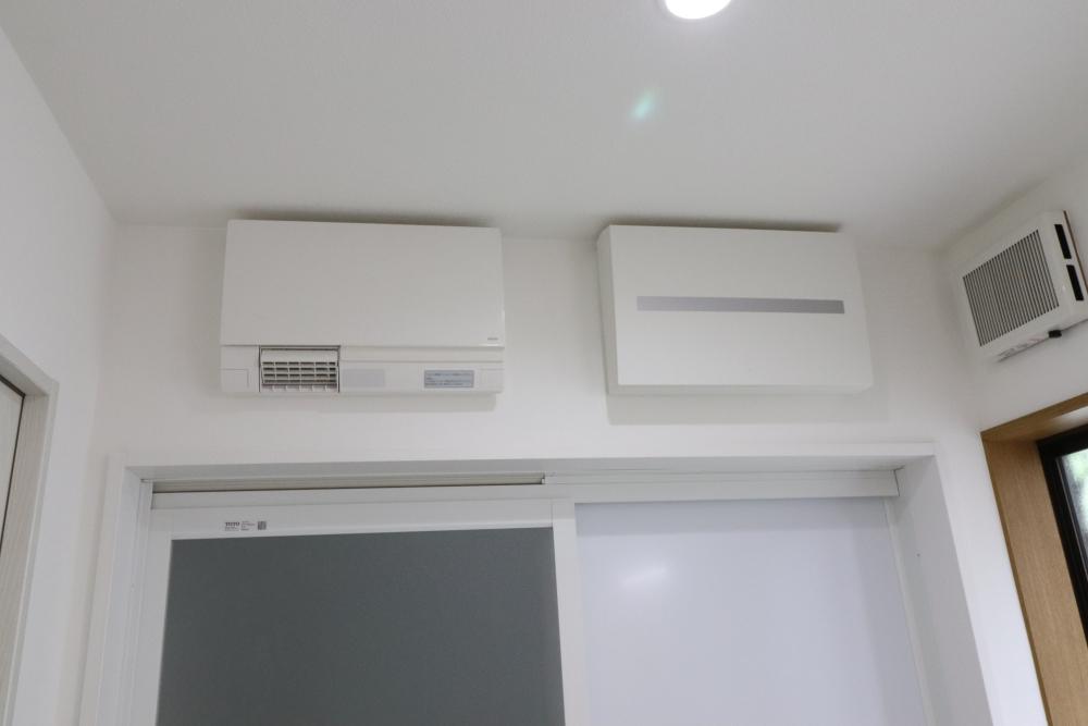 分電盤や洗面暖房機設置