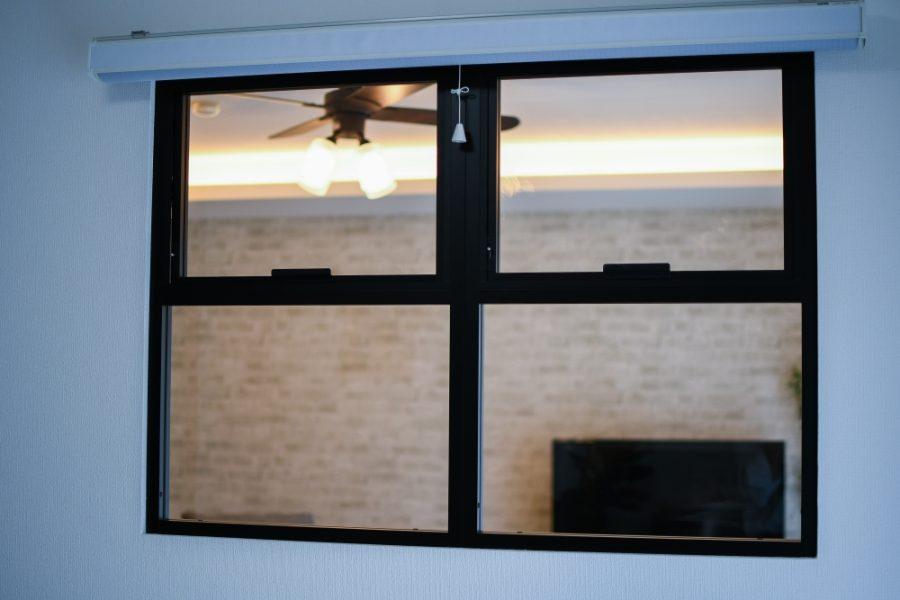 内窓がオシャレで通風も可能