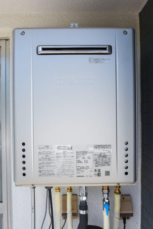 給湯専用から追い焚き式ガス給湯器を設置