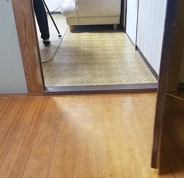 気になっていた段差もなくなり、安全安心。新居のようなフローリングです。