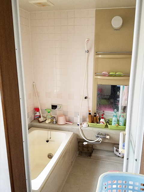 【浴室】1階の浴室も大変身。床も高断熱のほっカラリ床に。